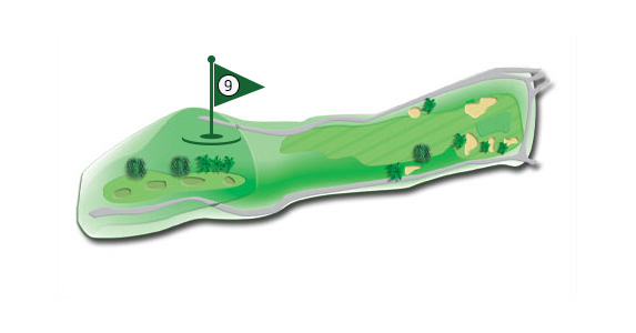 Details of the hole 9